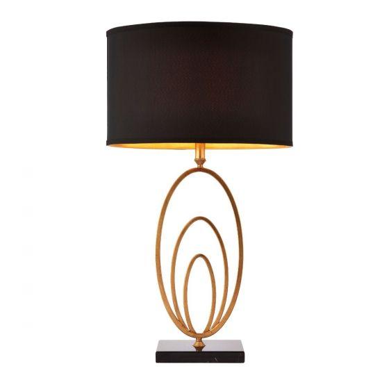 Jordan antique gold table lamp